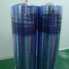 PVC透明带蓝色静电膜